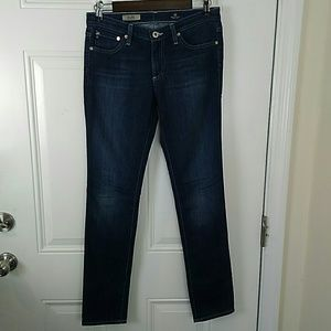 Adriano Goldschmied distressed cigarette jeans